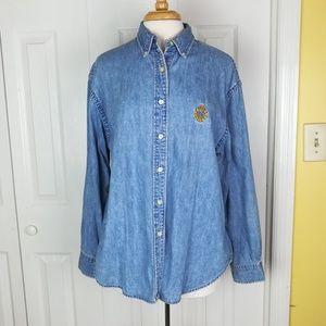 **Lauren Ralph Lauren button down denim shirt
